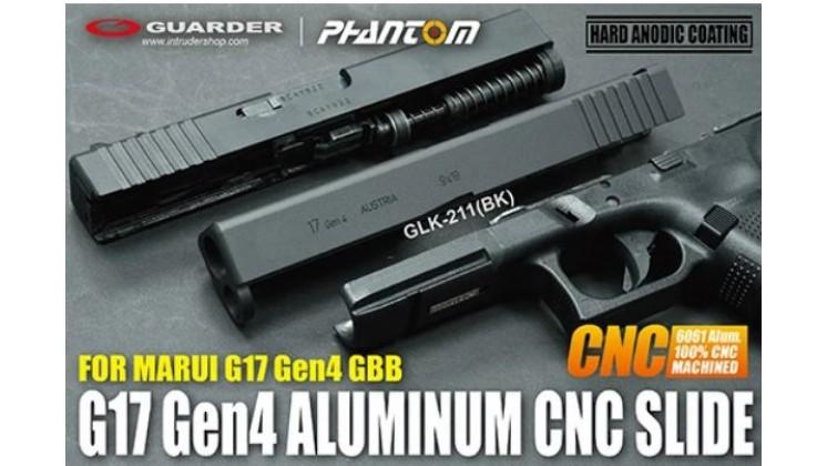 Guarder Aluminum CNC Slide for MARUI G17 Gen4 (Black)