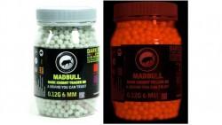 Madbull Precision 0.2g Dark Knight Tracer BB (Red) 2000rds (Bottle)