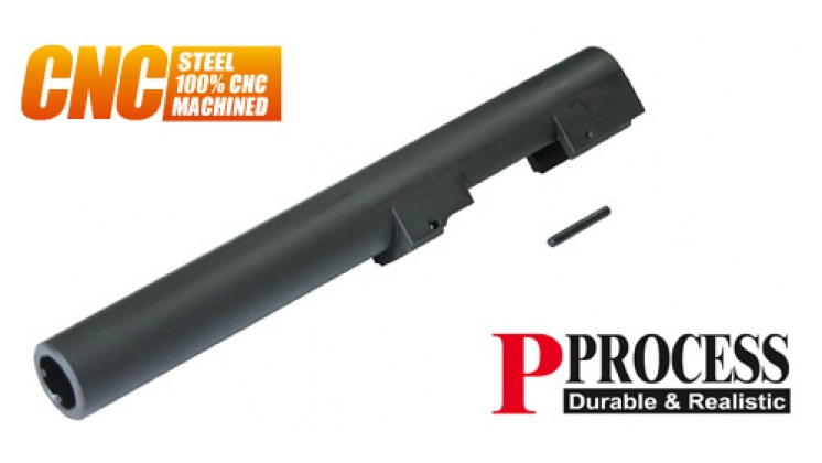 Guarder Steel Outer Barrel for Marui & KJ M9/M92F GBB (Dark Grey)