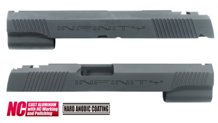 Guarder Infinity Aluminum Custom Slide for Marui Hi-Capa 5.1 (Black)