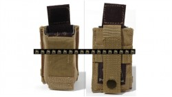 PANTAC Molle 9mm Mag Single Pouch (Khaki / CORDURA)