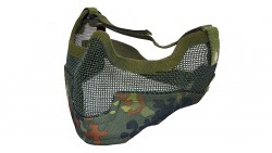 V2 Strike Steel Mesh Half Face Mask Airsoft Face Protecter (Spartan Camo Multicam)