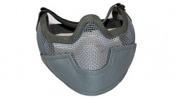 V2 Strike Steel Mesh Half Face Mask Airsoft Face Protecter (Grey)
