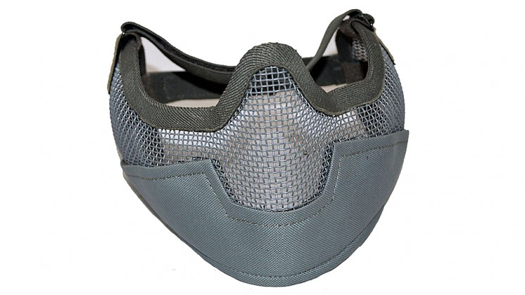 V2 Strike Steel Mesh Half Face Mask Airsoft Face Protecter (Black)