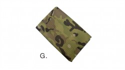 Tactical Military Hunting Camouflage Sniper Cover Multi Scarf Veil Face Mesh Scarves (Light CP)