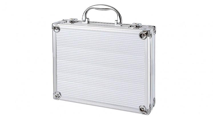 Aluminum Airsoft Pistol Gun Box (Silver)