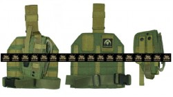 PANTAC Molle Style Leg Panel with Holster (OD / CORDURA)