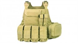 PANTAC Molle Style PC Plate Carrier (Khaki / Medium / CORDURA)
