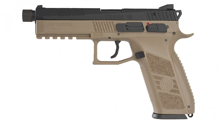 KJ WORKS CZ P-09 Tactical GBB Pistol TAN (ASG Licensed) Gas Version