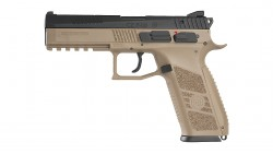 KJ WORKS CZ P-09 Duty GBB Pistol TAN (ASG Licensed) CO2 Version