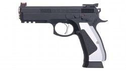 KJ WORKS CZ 75 SP-01 SHADOW ACCU CUSTOM GBB Pistol CO2 Version