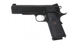 KJ Works M.E.U. KP-07 Full Metal GBB Pistol (Black)