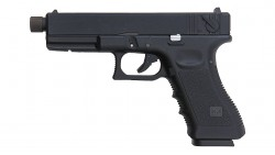 KJ WORKS KP-18 TACTICAL GBB PISTOL CO2 Version (Black)
