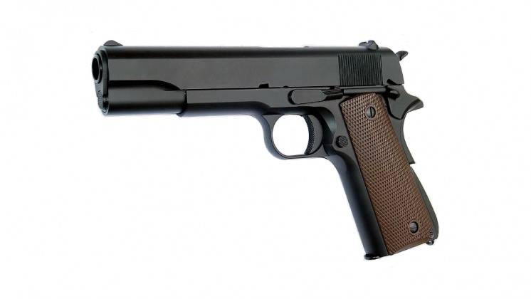 KJ Works M1911A1 FULL METAL GBB Pistol