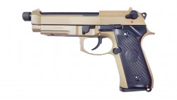 KJ WORKS M9A1 TBC Full Metal GBB Pistol (TAN, Gas)