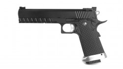 KJ Works Hi-Capa 6inch KP-06 GBB Pistol CO2 Version (Black)