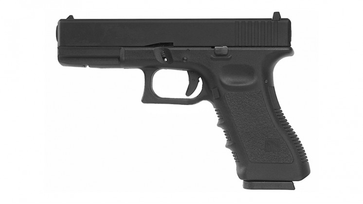 KJ WORKS KP-17 GBB Pistol Airsoft Gas Version - BLACK
