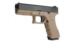 KJ WORKS KP-17 GBB Pistol Airsoft Gas Version - TAN