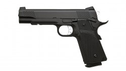 KJ Works KP-05 HI-CAPA Full Metal Black GBB Pistol (Gas and CO2)