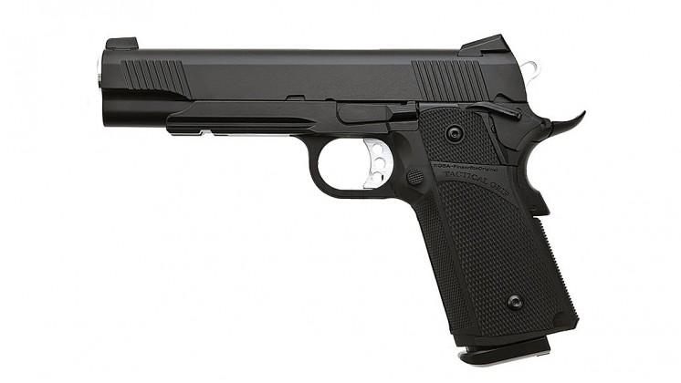 KJ Works KP-05 HI-CAPA Full Metal Black GBB Pistol (Gas and CO2)