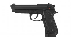 KJ Works M9A1 CO2 SPECIAL FULL METAL GBB Pistol (Black)
