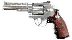 "WG 701 Fullmetal Revolver 4"" CO2 Pistol (Silver)"