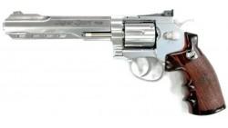 "WG 702 Fullmetal Revolver 6"" CO2 Pistol (Silver)"