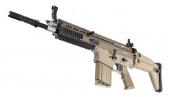 Tokyo Marui FN SCAR-Heavy MK17 Mod0 Assault Rifle Recoil Shock AEG (Dark Earth, Tan)
