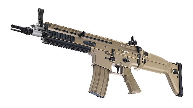 Tokyo Marui SCAR-L CQC Assault Rifle Recoil Shock AEG (MK16 Mod0, Flat Dark Earth)