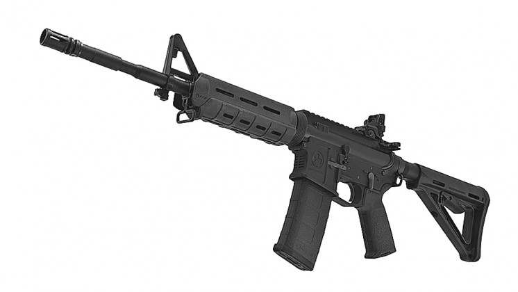 KWA LM4 Magput PTS Edition Gas Blowback Airsoft Rifle Black (System 7 Two)